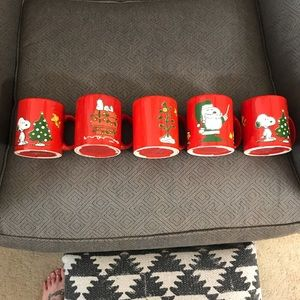 Set of 5 Snoopy Waechtersbach mugs